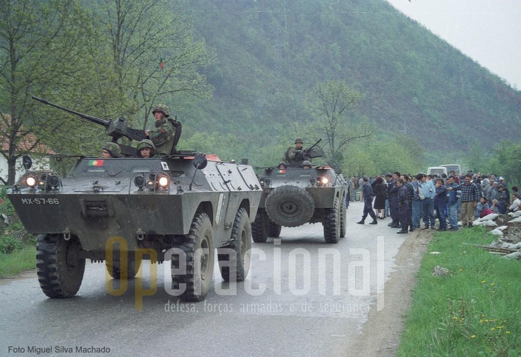 As Chaimites do 2º BIAT tiveram um papel importante para dissuadir o eclodir do conflito entre Sérvios e Muçulmanos em 30 de Abril de 1996