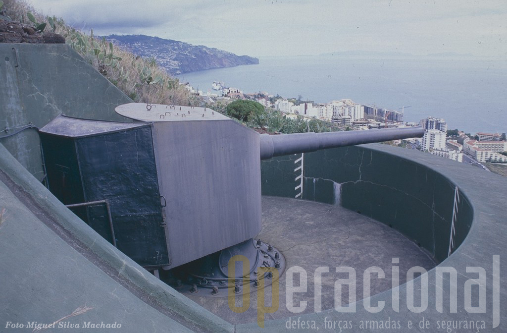 O Porto do Funchal também estava defendido pela artilharia de costa