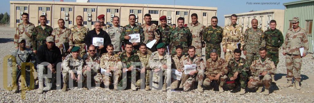 Final do curso. Mais um passo foi dado para a consolidação do Exército Iraquiano e este contou com o apoio português