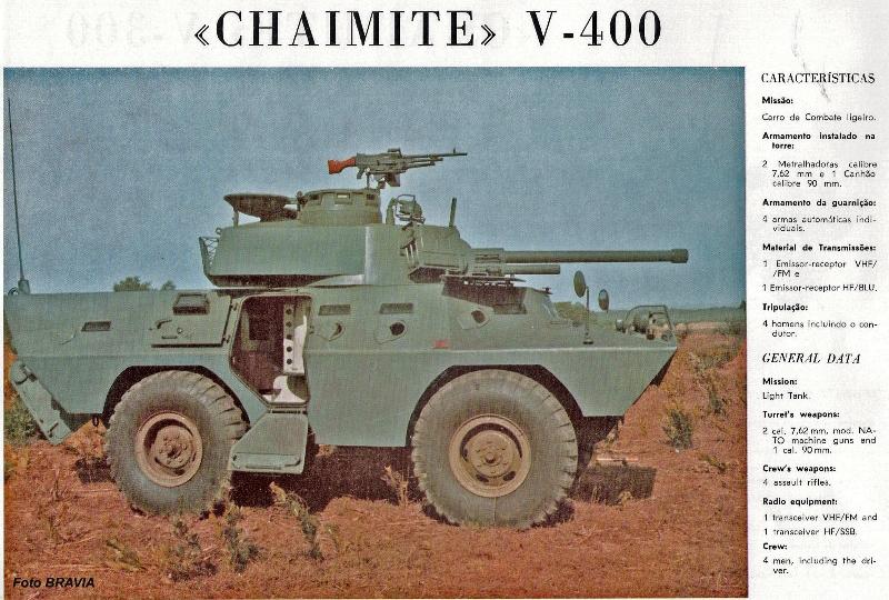 A V-400, aqui numa brochura publicitária da firma construtora só conheceu este exemplar