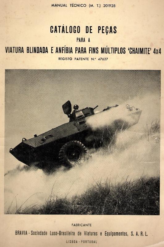 Um dos catálogos iniciais da Chaimite mostrava na capa uma V-100 modificada