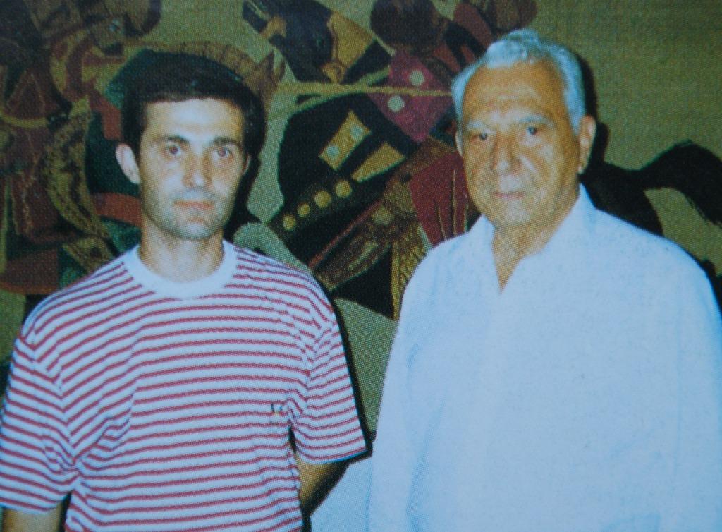 Rio de Janeiro, 23SET1992: o autor (António Carmo) e o General pára-quedista ROBERTO DE PESSÔA num registo breve para a posteridade. (Foto do autor)