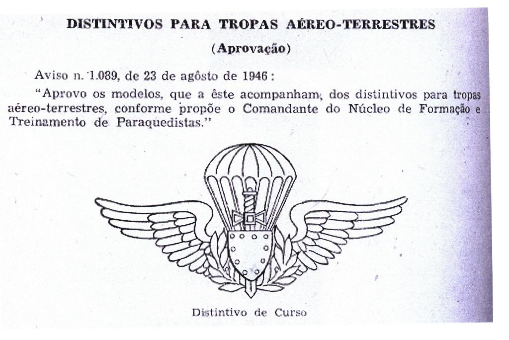 Facsimile do AVISO Nº1.089 de 23 de Agosto de 1946. (Fotocópia arquivo do autor)