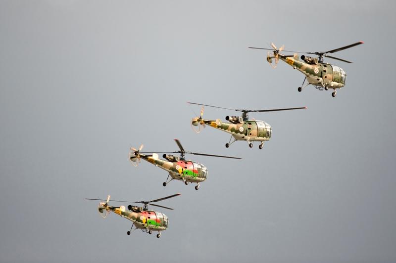 Os veteranos Alouette III mostraram que continuam operacionais para muitas missões da actualidade