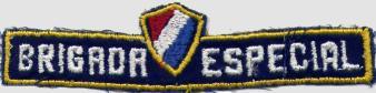 Distintivo de identificação obsoleto. Usado centrado por cima da portinhola do lado direito das camisas do uniforme. (Foto de arquivo)