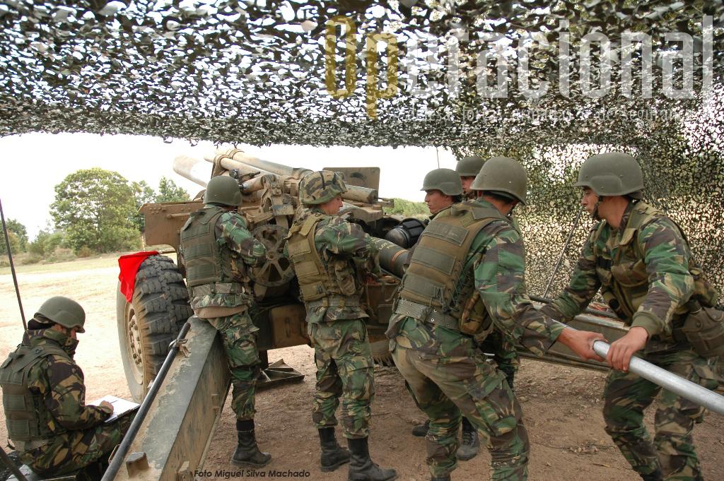Os 155mm do Grupo de Artilharia de Campanha do Regimento de Artilharia n.º 5 estiveram muito activos no exercício