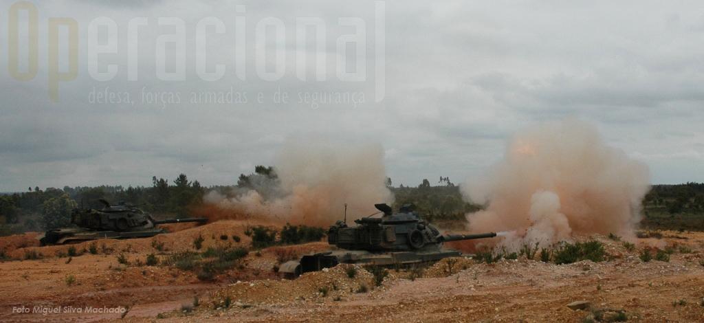 Os veteranos M-60 continuam a garantir parte importante da capacidade da Brigada para missões de combate de alta intensidade