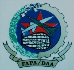 Distintivo oficial da FAPA-DAA. (Col. de António Carmo)