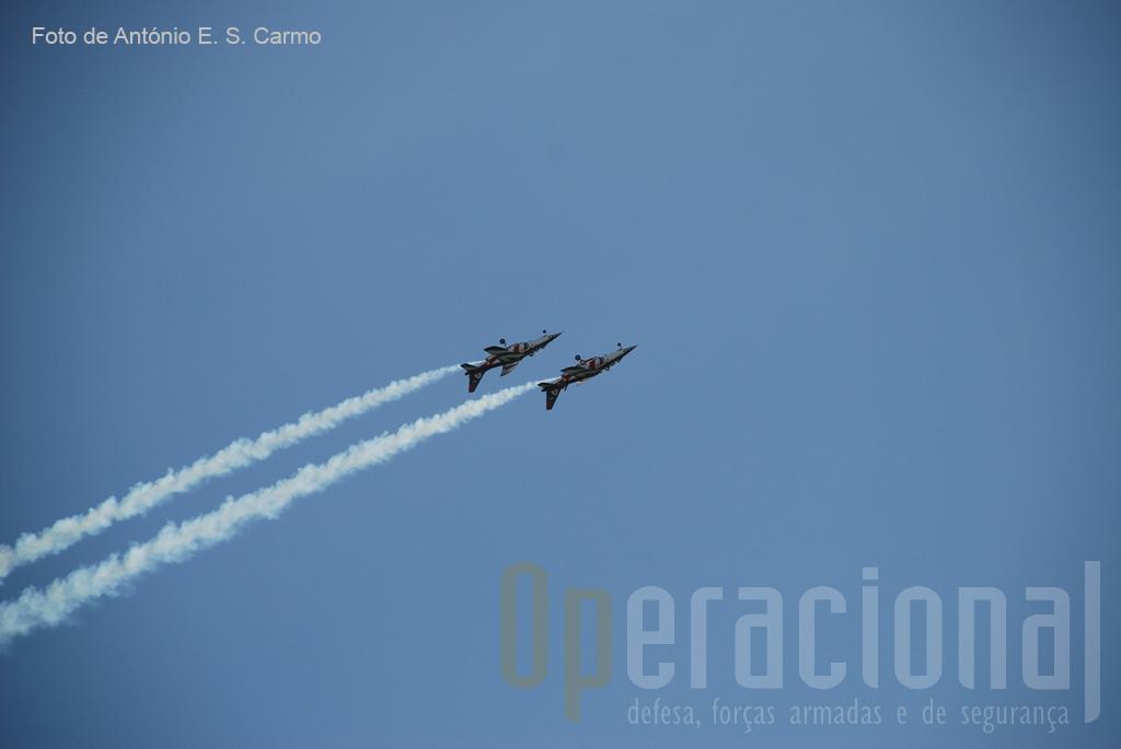 A perfeição em todas as manobras já se tornou uma imagem de marca da Patrulha Acrobática «ASAS DE PORTUGAL».