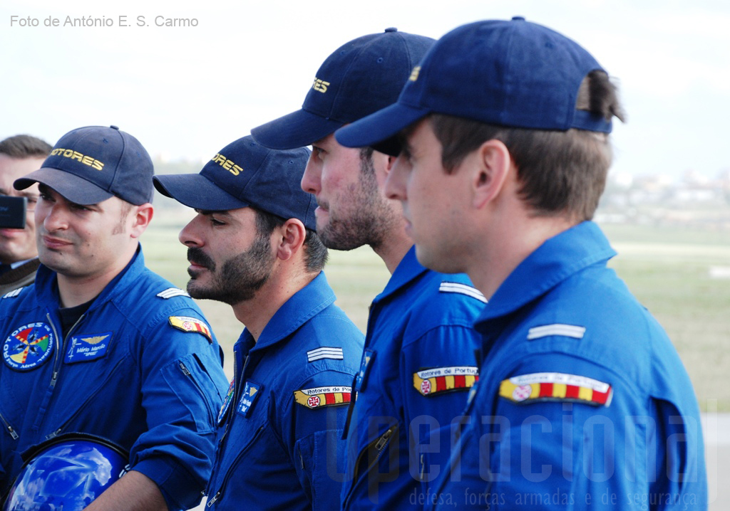 2009: os rostos da Patrulha Acrobática «ROTORES DE PORTUGAL».