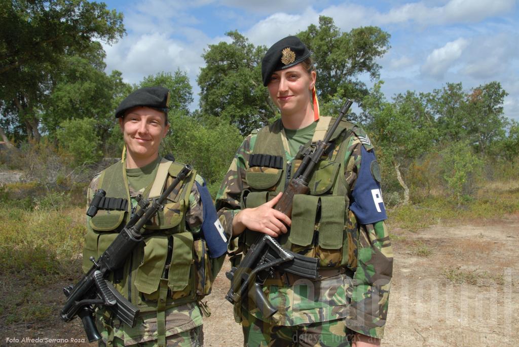 A Policia do Exército também esteve presente em Alcochete