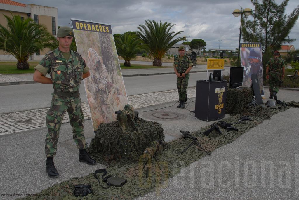 As Operações Especiais de Lamego, participaram no exercicio e também apresentarm  parte do seu armamanto e equipamento na exposição no DGME