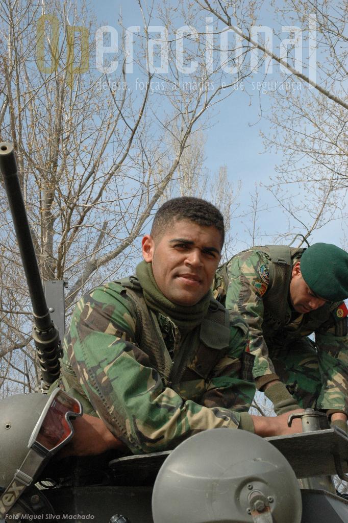 Paulo Fonseca, o soldado pára-quedista que acompanhamos nesta reportagem.