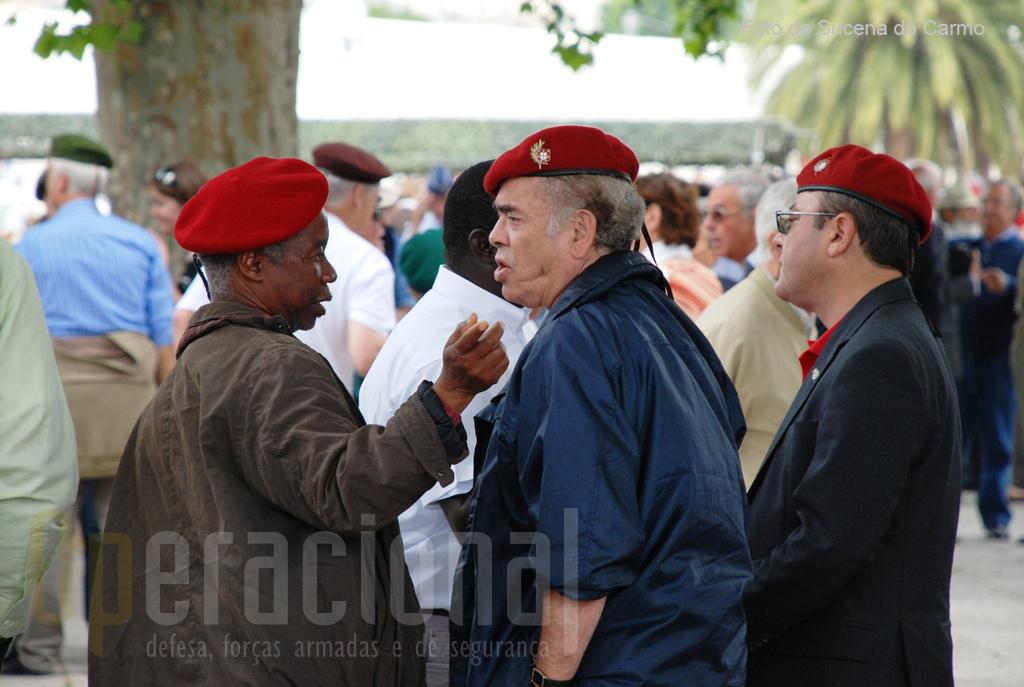 Veteranos combatentes oriundos de todo o território nacional quiseram estar presentes nesta cerimónia anual.