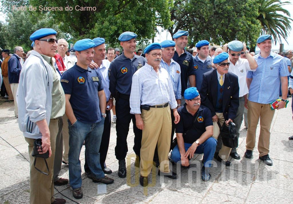 Veteranos e ex-militares da  Força Aérea Portuguesa (Polícia Aérea) marcaram significativa presença.