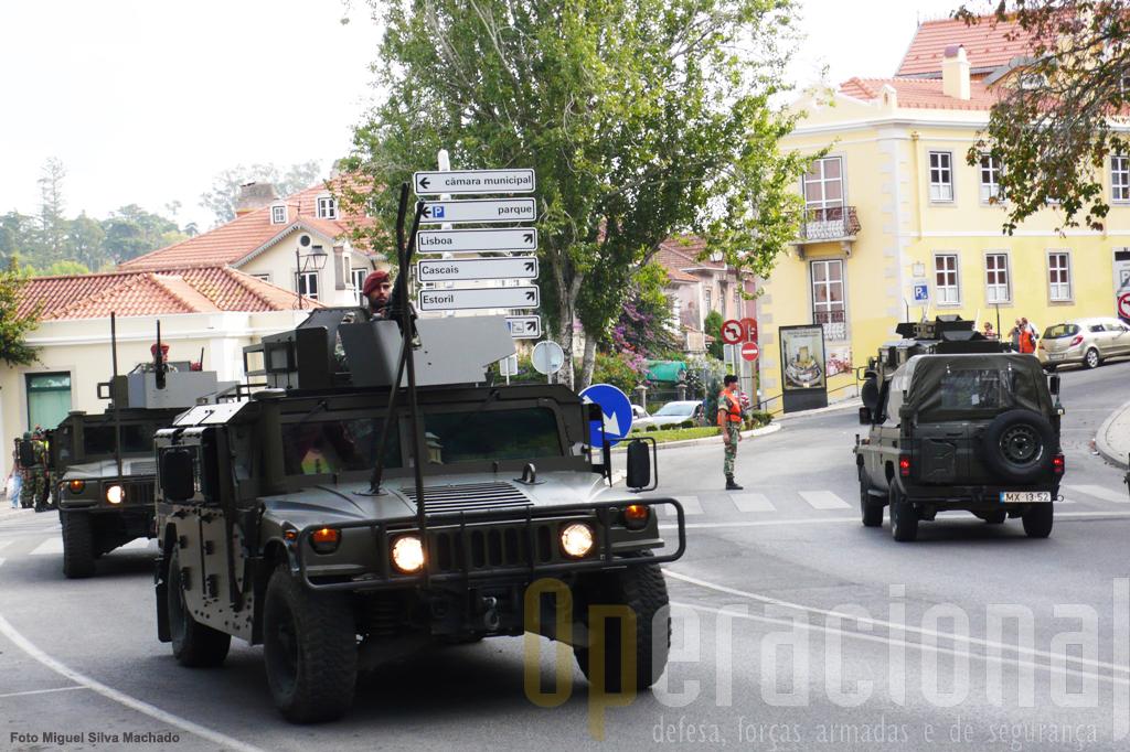 O Batalhão de Comandos desfilou com os novos Hummers adquiridos pelo Exército que dispõem de uma blindagem diferente da anteriormente usada no Afeganistão