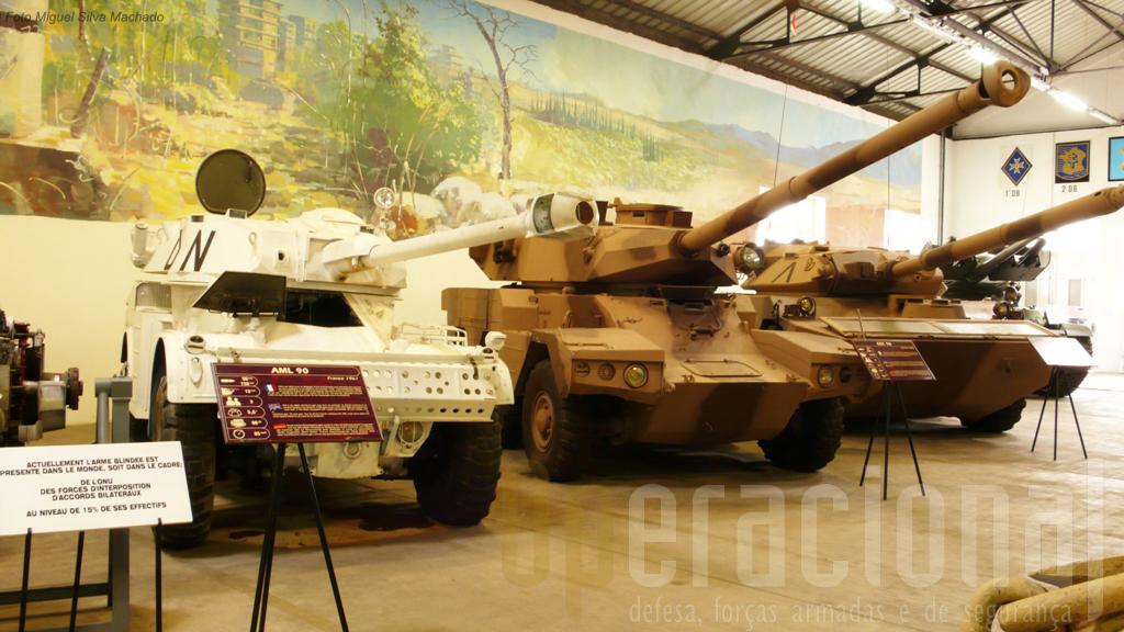 A geração que sucedeu às EBR e que ainda hoje é utilizada nas missões de paz e intervenções em África: AML 90, ERC 90 Sagaie e AMX 10RC