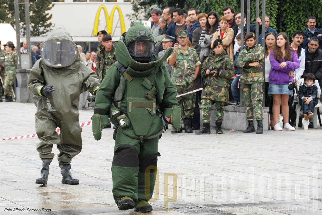 Em caso de necessidades o Exército bem assim como os outros ramos, têm pessoal e materail adequados a responder a emergências com explosivos e com produtos nucleares, biológicos e quimicos