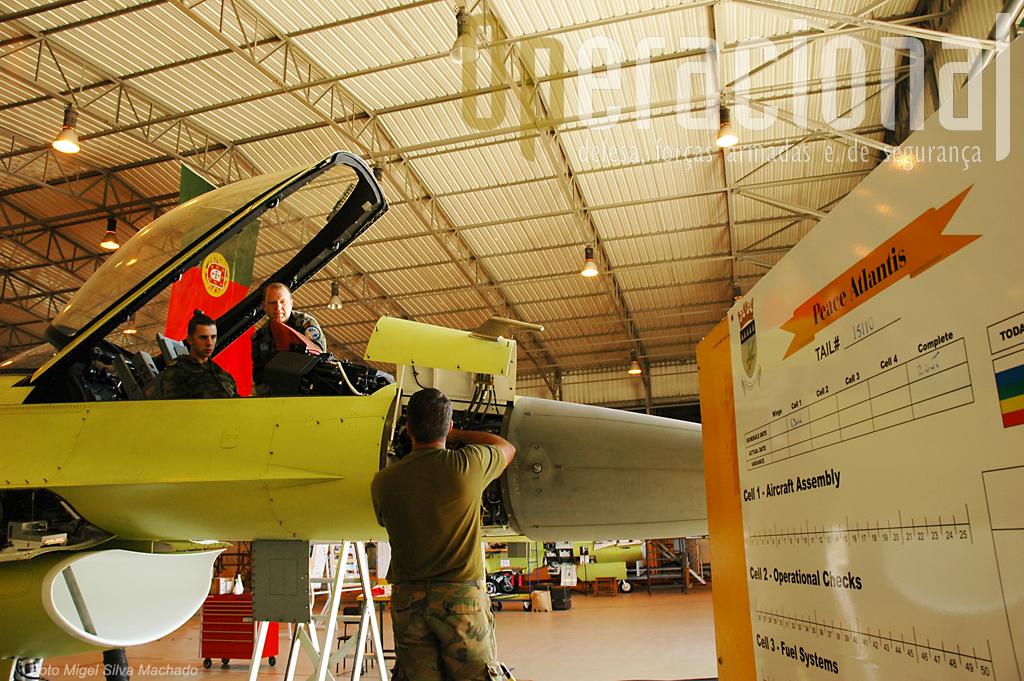 """A """"Doca 4"""" permitiu ter finalmente os F-16 """"MLU"""" disponiveis para entrega às esquadras nos prazos estabelecidos."""