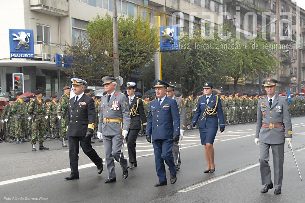 Como é hábito Marinha e Força Aérea fizeramse representar pelos respectivos Vice-Chefes de Estado-Maior, aqui acompanhados pelo seu homólogo do Exército.
