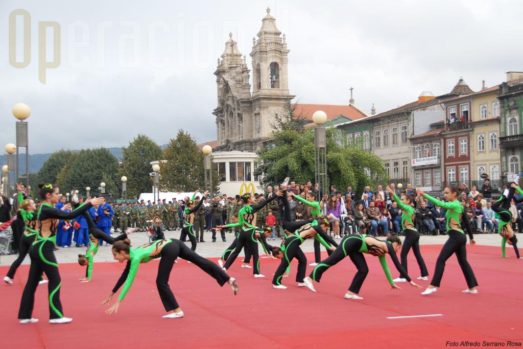 O Instituto de Odivelas participou na demosntração gimnica