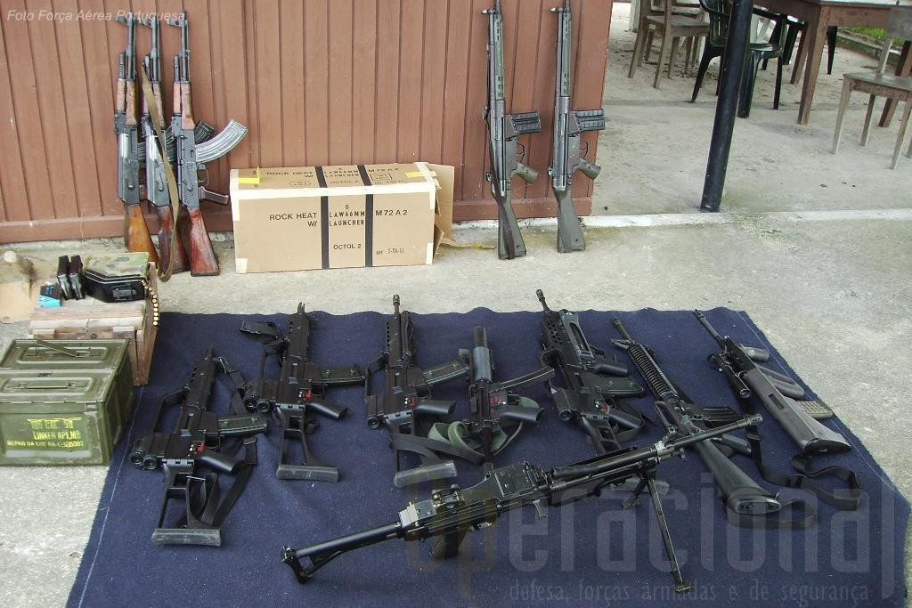 Apresentação de diverso tipo de armas utilizadas pela UPF quer apenas para instrução quer operacionalmente