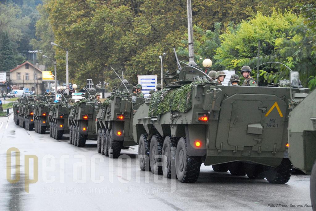 As Pandur II 8X8 estão a ser distribuídas à Brigada de Intervenção. Espera-se agora a sua utilização operacional num dos teatros de operações exteriores