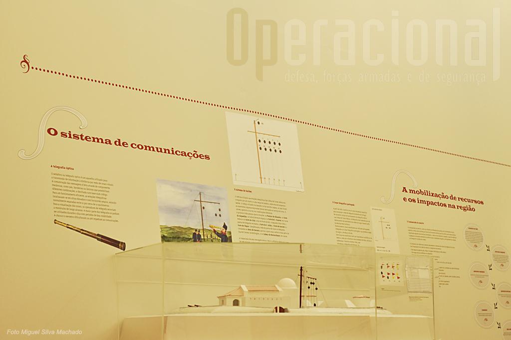 Um dos destaques vai para os sistemas ópticos de transmissão de mensagens entre fortificações