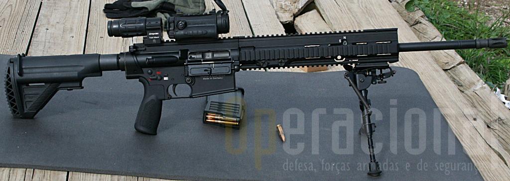 Uma das HK 417 7,65mm testadas na Serra da Carregueira