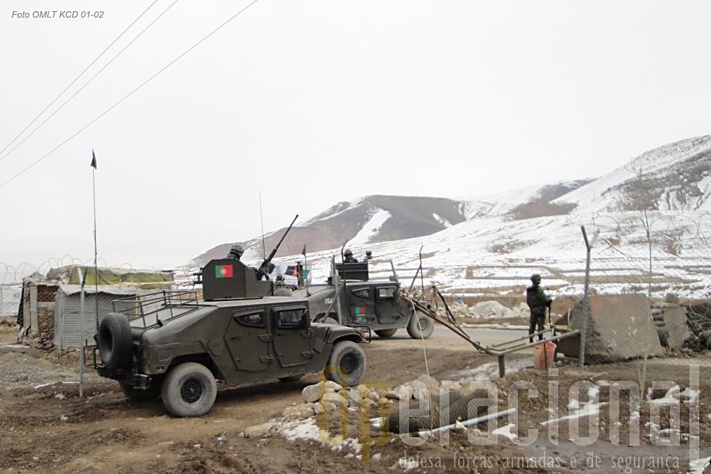 """Missão de reconhecimento com a """"Force Protection"""" junto a um """"Check-Point"""" do Exército Nacional Afegão"""