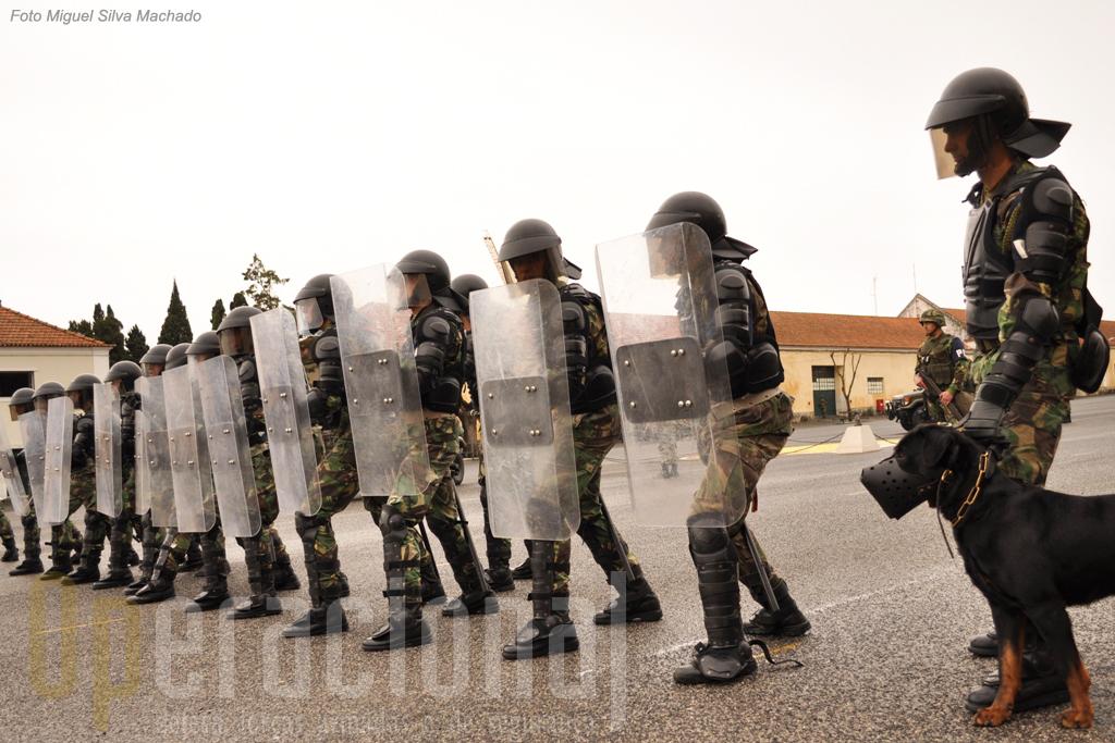 Foi perante a necessidade surgida no teatro de operações da Bósnia que o Exército se equipou e treinou para o controlo de tumultos, primeiro com o apoio da GNR e agora com responsabilização do RL 2