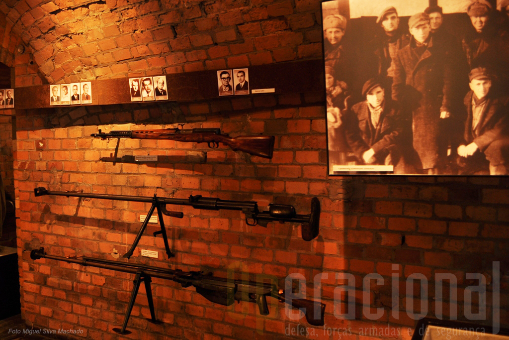 """Este museu tem grande diversidade de armamento de fabrico russo. As """"espingardas anti-carro"""" foram ali muito utilizadas pelos voluntários civis."""