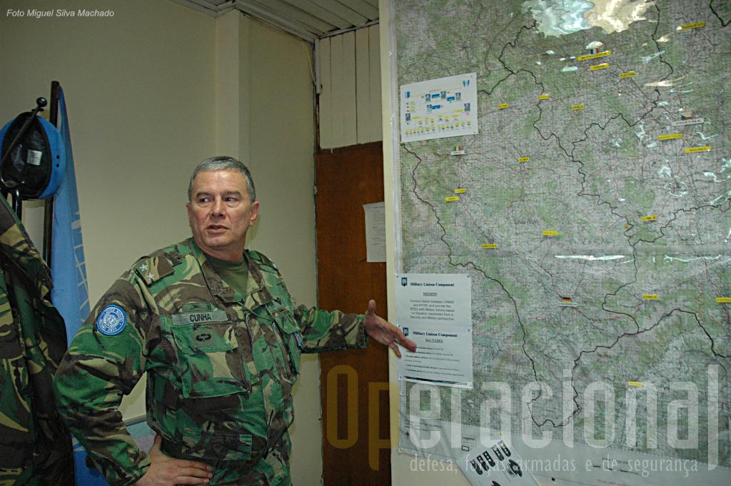 Antes de comandar a BrigRR Raul Cunha chefiou os Oficiais de Ligação Militares da UNMIK no Kosovo de 2005 a 2007
