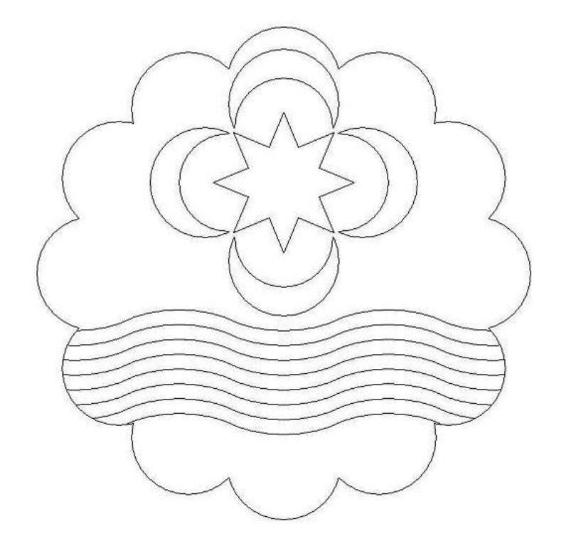 Modelo do emblema da APqTN (desenho a traço).