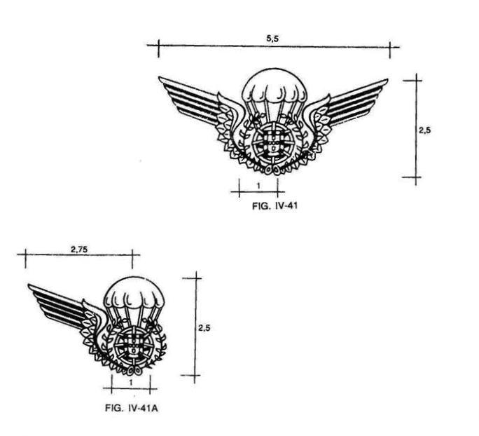 Desenhos previstos no RUE/Provisório de 28ABR94. (Col. do Autor)