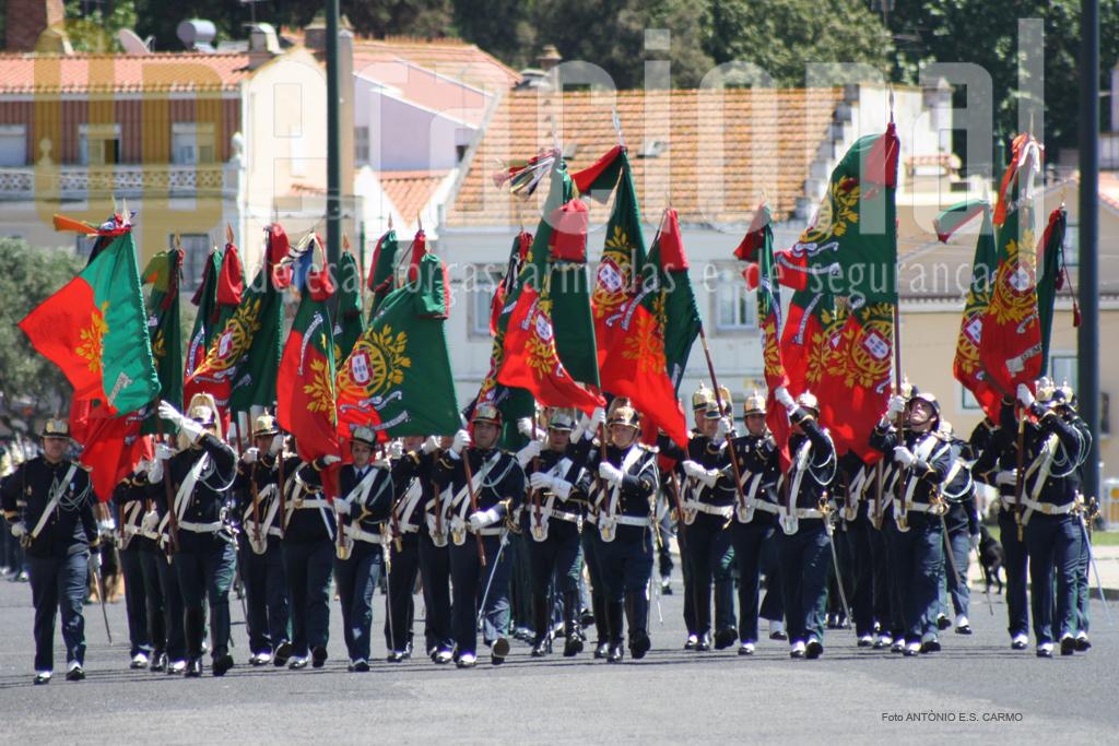 Bloco de Estandartes Nacionais da GNR: têm direito ao uso de armas e estandarte a Guarda, o Comando-Geral, a Inspecção da Guarda, o Comando Operacional, o Comando da Administração de Recursos Internos, o Comando da Doutrina e Formação, a Escola da Guarda e as unidades, incluindo as unidades e subunidades da Guarda destacadas para missões fora do território nacional.