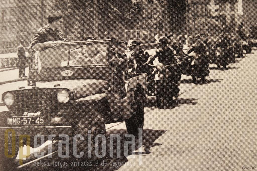 Exercicios da Legião Portuguesa que também tinha a seu cargo a chamada Defesa Civil do Território.