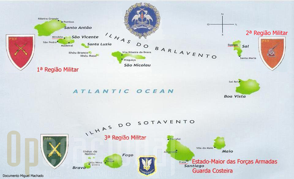 O Arquipélago de Cabo Verde e a implatantação territorial das suas Forças Armadas