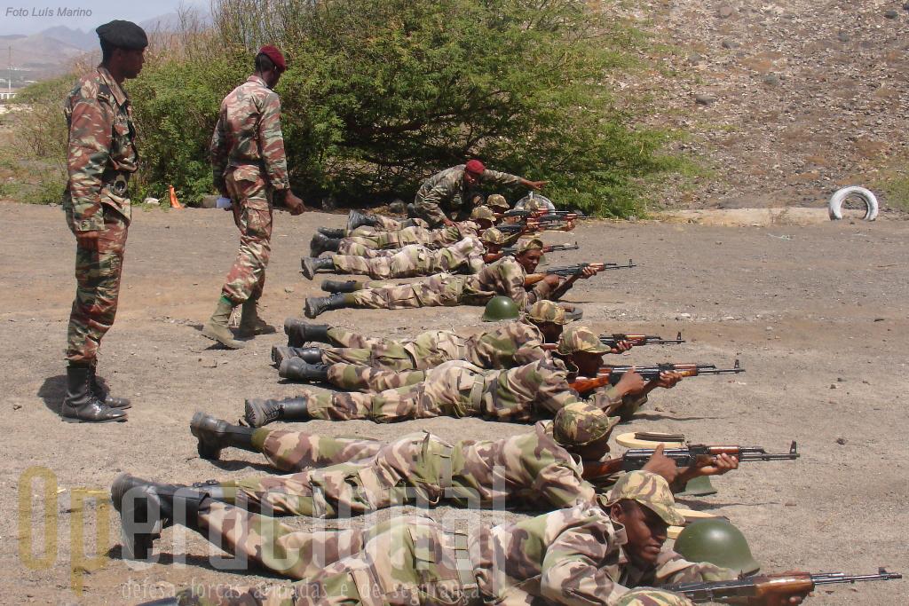 Instrução de tiro no decurso da instrução da especilaidade de Policia Militar.