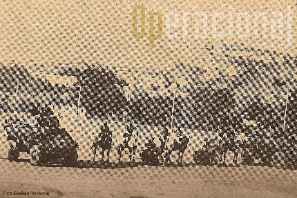 Embora de fraca qualidade esta fotografia ilustra bem os meios em uso no final da II Guerra Mundial em Portugal.