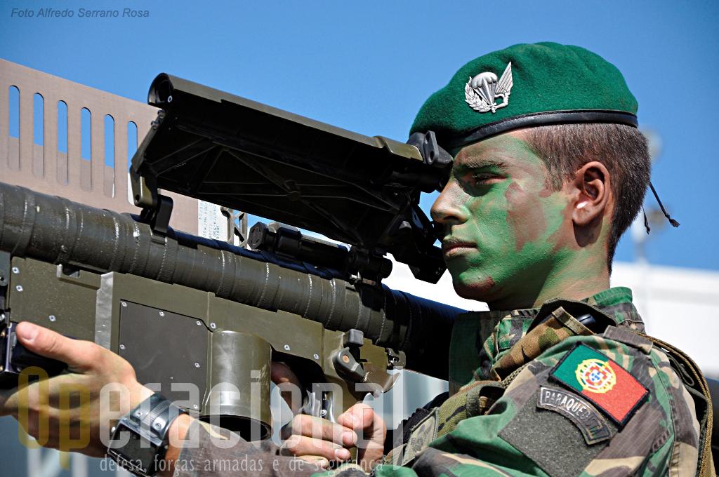 """As esquadras """"Stinger"""" representaram a artilharia anti-aérea da BrigRR"""