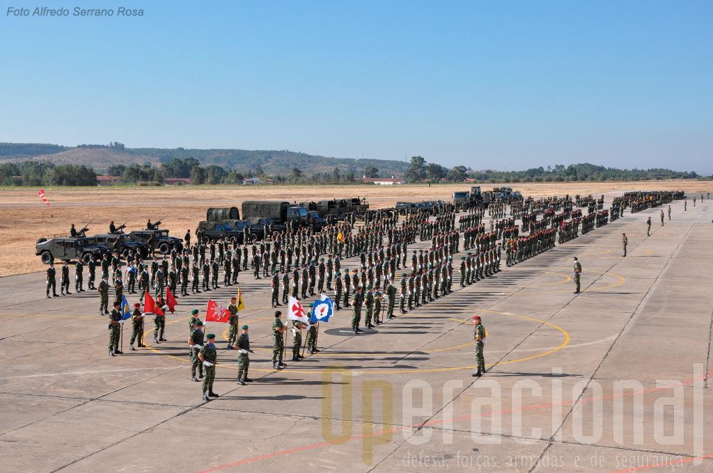 Parte muito substancial dos efectivos da BrigRR estiveram em Tancos. Um Batalhão de Pára-quedistas está no Kosovo, uma companhia de Comandos acabou de regressar do Afeganistão e 2 duas OMLT de Divisão (da BRigRR) estão em processo de rotação também para o Afeganistão