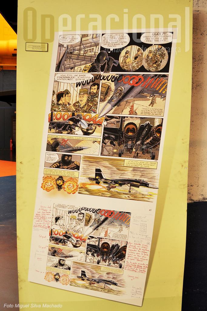 A Banda Desenhada está muito presente no museu. Aqui esboços finais (e posterior publicação) de um livro