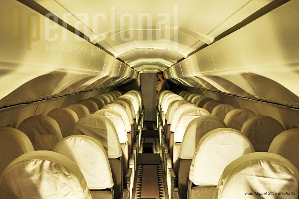 O espaço interior não era, garantidamente, o forte do Concorde.