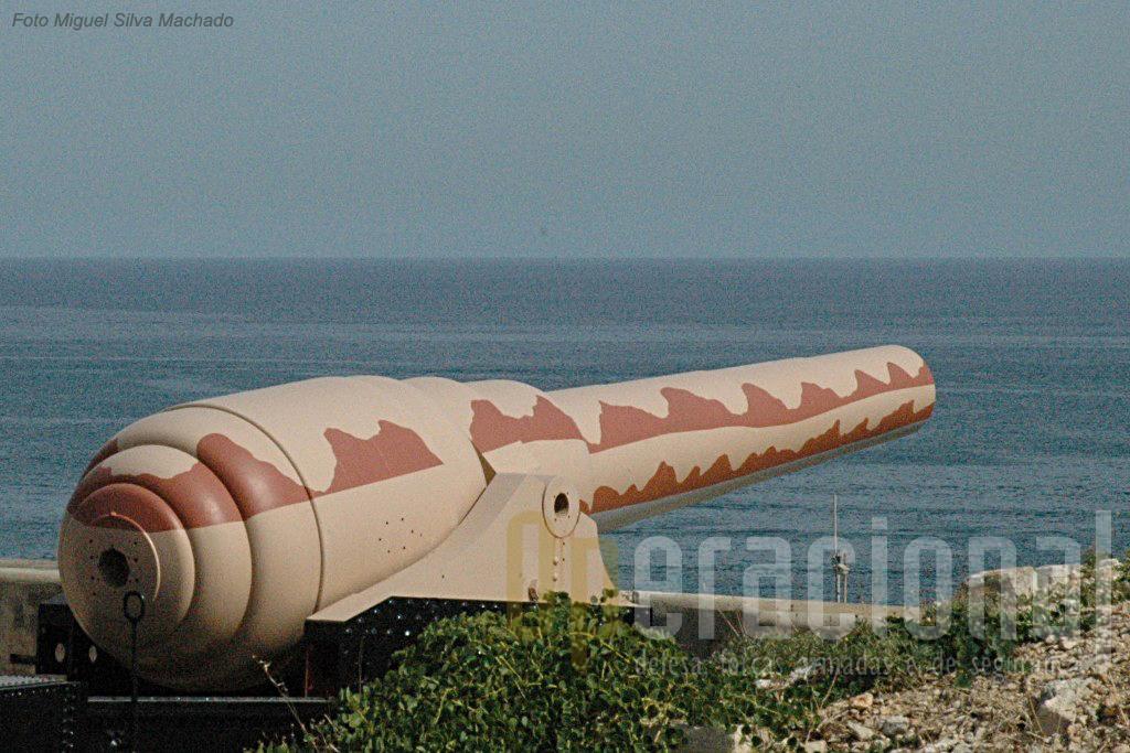 O canhão de 103,64 toneladas, calibre 450mm, está instalado em Malta de 1884.
