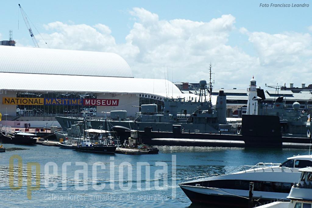 O Museu com as unidades navais visitaveis: