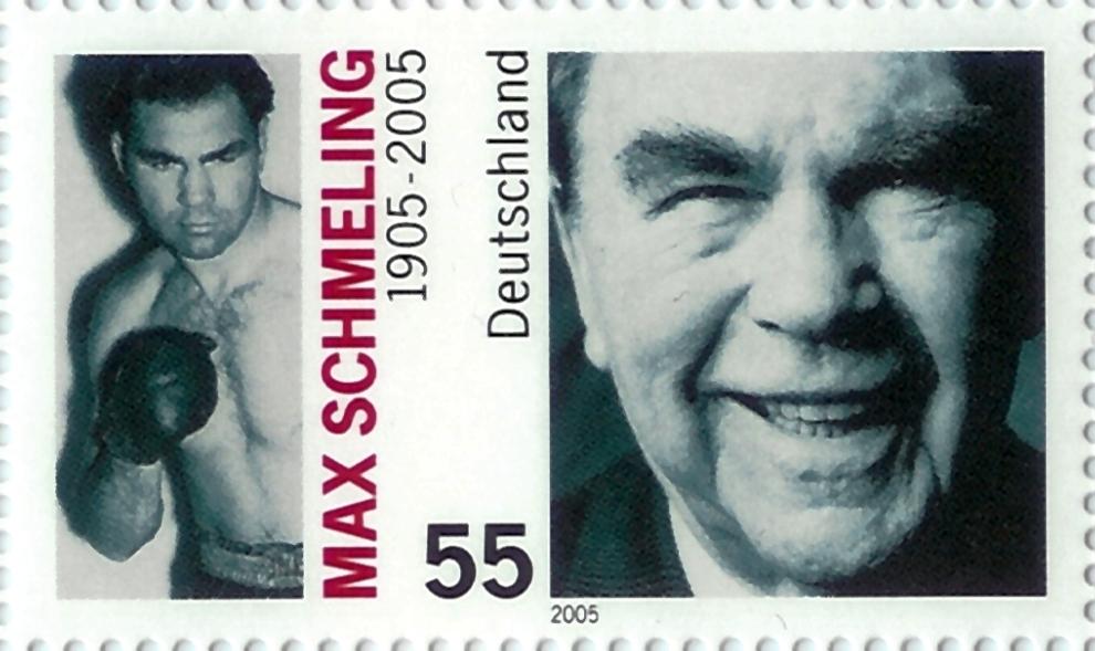 Homenagem dos Correios alemães ao pugilista e pára-quedista MAX SCHMELING. (Foto de arquivo)