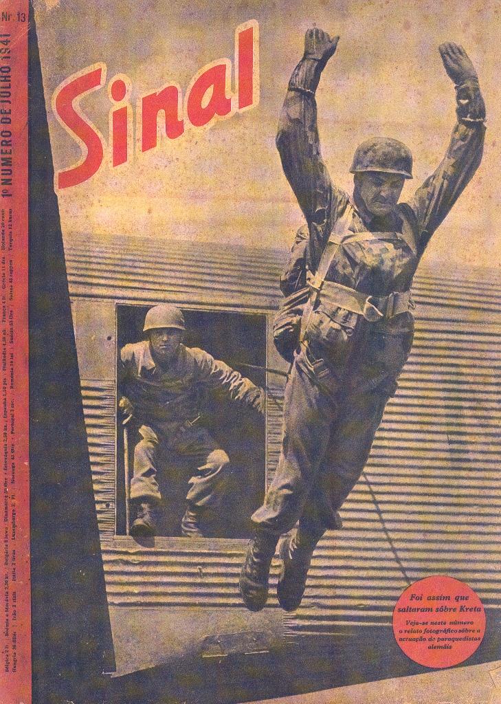 Capa da revista SINAL que assinala o assalto à Ilha de Creta. (Col. de Miguel Machado)