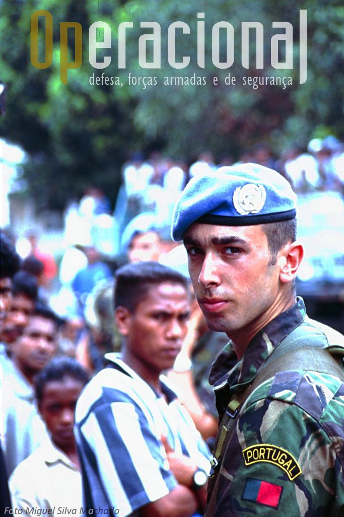 A missão em Timor-Leste começou em 2000 com as Forças Armadas e mant