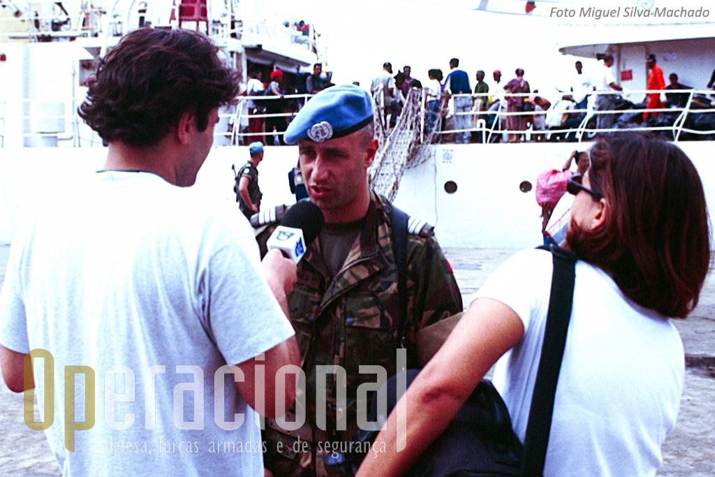A missão teve uma razoável cobertura noticiosa por parte dos media portugueses. Mesmo que longe da Bósnia em 1996 foi muitosuperior ao que actualmente se verifica no Afeganist